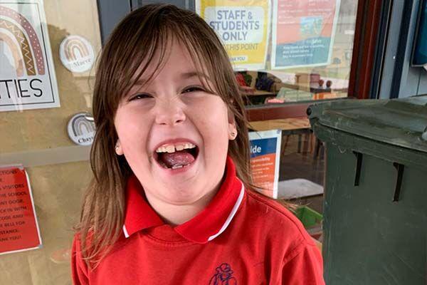 Linton Primary School - Smiling student