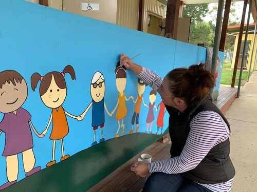Painting our mural
