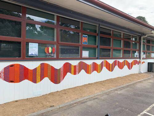Our aboriginal art mural